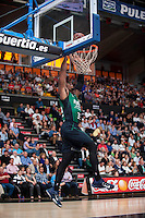 VALENCIA, SPAIN - OCTOBER 18: Paul during ENDESA LEAGUE match between Valencia Basket Club and FIATC Joventut at Fonteta Stadium on October 18, 2015 in Valencia, Spain