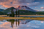 Sunset, Sparks Lake, South Sister, Deschutes National Forest, Oregon