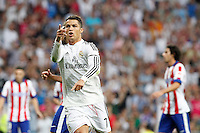 Cristiano Ronaldo of Real Madrid during La Liga match between Real Madrid and Atletico de Madrid at Santiago Bernabeu stadium in Madrid, Spain. September 13, 2014. (ALTERPHOTOS/Caro Marin) <br /> Football Calcio 2014/2015<br /> La Liga Spagna<br /> Foto Alterphotos / Insidefoto