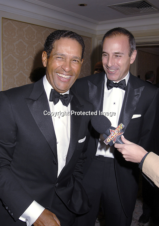 Bryant Gumbel and Matt Lauer..at The Museum of The Moving Image Dinner Honoring ..Matt Lauer, co-anchor of NBC News' Today and Debra Lee, Chairman and ECO of BET Networks on April 26, 2007 at The St Regis Hotel. ..Robin Platzer, Twin Images