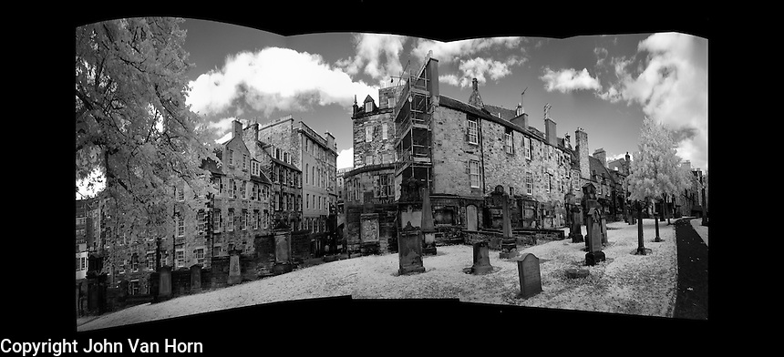 Infrared Photos of Greyfriars Kirkyard - Cemetery, Edinburgh, Scotland