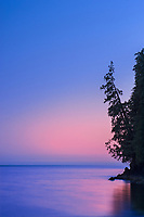 Strait of Juan de Fuca at dusk , Port Renfrew, British Columbia, Canada