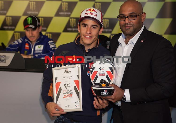 Monster Energy Grand Prix de France in Le Mans 15.-17.05.2015, Qualifying Press Conference Winner Qualifying Moto GP<br /> <br /> 93  Marc M&aacute;rquez / Spanien<br /> <br /> Foto &copy; nordphoto / FSA