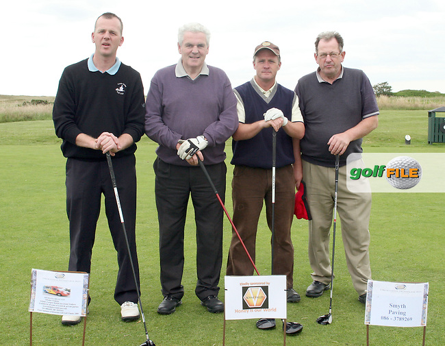 Conrad Wheeler, Kevin Smyth, Gerald Flynn and Michael Kearney, Breens Pharmacy, Slane at the Drogheda Homeless Aid Annual Golf Classic in Co.Louth Golf Club in Baltray...Photo NEWSFILE/Jenny Matthews.(Photo credit should read Jenny Matthews/NEWSFILE)....This Picture has been sent you under the condtions enclosed by:.Newsfile Ltd..The Studio,.Millmount Abbey,.Drogheda,.Co Meath..Ireland..Tel: +353(0)41-9871240.Fax: +353(0)41-9871260.GSM: +353(0)86-2500958.email: pictures@newsfile.ie.www.newsfile.ie.FTP: 193.120.102.198.