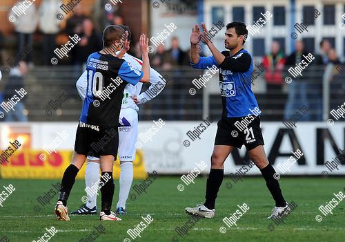 2011-01-16 / Voetbal / seizoen 2010-2011 / Rupel-Boom - FC Dender / Daniël Rodrigo de Oliveira bij zijn wissel...Foto: Mpics