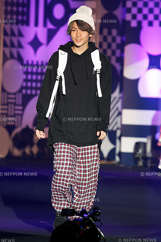 "Takeshi Oka, September 28, 2014, Tokyo, Japan : Model Takeshi Oka walks down the catwalk during the ""Moshi Moshi Nippon Festival 2014"" on September 28, 2014 in Tokyo, Japan. Several famous Idols such as Dempagumi idol group, Kyary Pamyu Pamyu and Harayuku models attend the Moshi Moshi Nippon Festival 2014 to promotes the Japanese pop culture (fashion, anime, music and food) to non-Japanese people. (Photo by Rodrigo Reyes Marin/AFLO)"