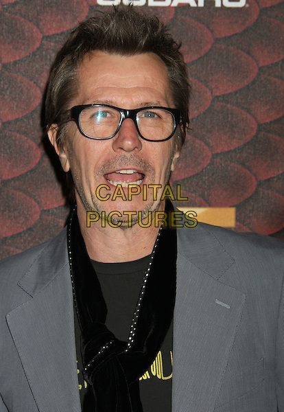 "GARY OLDMAN.Spike TV's ""Scream 2008"" Awards held at the Greek Theatre, Los Angeles, California, USA..October 18th, 2008.headshot portrait glasses black scarf mouth open.CAP/ADM/MJ.©Michael Jade/AdMedia/Capital Pictures.."
