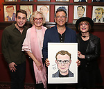 Ben Platt, Christine Ebersole, Michael Grief and Patti Lupone attend the Michael Grief Sardi's Portrait Unveiling at Sardi's on 4/27/2017 in New York City.
