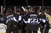 Jonathan Desbiens (Bentley - 21), Charlie Donners (Bentley - 15), Max French (Bentley - 16), Ryner Gorowsky (Bentley - 22), Alexey Solovyev (Bentley - 24) - The Bentley University Falcons defeated the Army West Point Black Knights 3-1 (EN) on Thursday, January 5, 2017, at Fenway Park in Boston, Massachusetts.The Bentley University Falcons defeated the Army West Point Black Knights 3-1 (EN) on Thursday, January 5, 2017, at Fenway Park in Boston, Massachusetts.
