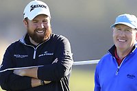 Shane Lowry and Gerry McManus (IRL) on the 6th green during Sunday's Final Round of the 2018 AT&amp;T Pebble Beach Pro-Am, held on Pebble Beach Golf Course, Monterey,  California, USA. 11th February 2018.<br /> Picture: Eoin Clarke | Golffile<br /> <br /> <br /> All photos usage must carry mandatory copyright credit (&copy; Golffile | Eoin Clarke)