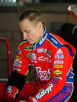 Oct. 10, 2009; Fontana, CA, USA; NASCAR Sprint Cup Series driver Mark Martin during practice for the Pepsi 500 at Auto Club Speedway. Mandatory Credit: Mark J. Rebilas-