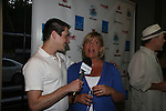 Damon Jacobs (We Love Soaps) interviews Kim Zimmer - Guiding Light Bon Voyage party was held on July 30, 2010 for many radio winners at Sd 26 Lounge, NYC. (Photos by Sue Coflin/Max Photos)