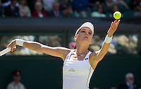 AGNIESZKA RADWANSKA (POL)<br /> <br /> TENNIS - THE CHAMPIONSHIPS - WIMBLEDON 2015 -  LONDON - ENGLAND - UNITED KINGDOM - ATP, WTA, ITF <br /> <br /> &copy; AMN IMAGES23