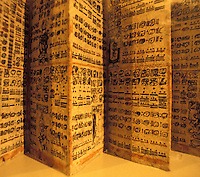 Copy of the Dresden Codex, one of the few surviving books of the ancient Maya, Popul Vuh Museum, Guatemala City