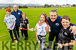 The Brick and Shanahan families looking forward to the reopening of Tralee Parnells GAA facilities. Front right, l to r: Sophie, David and Ronan Brick.<br /> Back l to r: Jack, Brian and Caoimhe Shanahan.