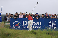 Mike Lorenzo-Vera (FRA) tees off the 18th tee during Saturday's Round 3 of the Dubai Duty Free Irish Open 2019, held at Lahinch Golf Club, Lahinch, Ireland. 6th July 2019.<br /> Picture: Eoin Clarke | Golffile<br /> <br /> <br /> All photos usage must carry mandatory copyright credit (© Golffile | Eoin Clarke)