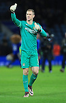 Manchester City's Joe Hart acknowledges the away support<br /> <br /> Barclays Premier League- Leicester City vs Manchester City - King Power Stadium - England - 29th December 2015 - Picture - David Klein/Sportimage