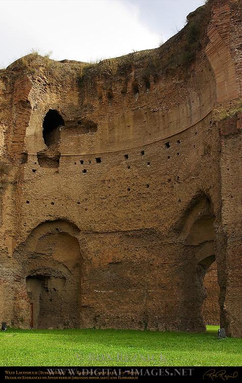 Baths of Caracalla Laconicum Turkish Bath detail Aventine Hill Rome