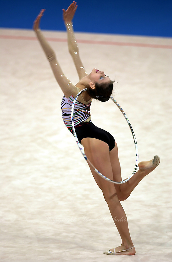 Sep 29, 2000; SYDNEY, AUSTRALIA:<br /> IVA TEPESHANOVA of Bulgaria performs with ribbon during rhythmic gymnastics qualifying at 2000 Summer Olympics.
