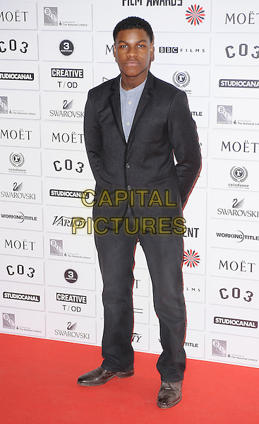 John Boyega.14th Moet British Independent Film Awards 2011, Old Billingsgate, Lower Thames Street, London, England, 4th December 2011.full length black suit blue shirt.CAP/BEL.©Tom Belcher/Capital Pictures.