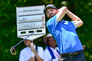Bethesda, MD - July 1, 2018: Kyle Stanley tee's off on the 8th hole during final round of professional play at the Quicken Loans National Tournament at TPC Potomac at Avenel Farm in Bethesda, MD.  (Photo by Phillip Peters/Media Images International)