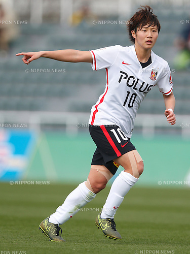 Chinatsu Kira (Reds Ladies), MARCH 27, 2016 - Football /Soccer : Plenus Nadeshiko League 2016 between Urawa Reds Ladies 1-1 NTV Beleza at Nishigaoka Stadium in Tokyo, Japan. (Photo by Sho Tamura/AFLO SPORT)