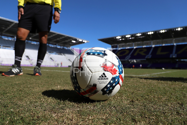 Orlando, Florida - Wednesday January 17, 2018: 2017 adidas MLS Nativo. Match Day 3 of the 2018 adidas MLS Player Combine was held Orlando City Stadium.