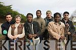 The Killarney Asylum Seeker Initiative are busy preparing their spring garden after receiving a major funding boost this week. .L-R Luay Raddam, Alice Foley, Charlotte Darko, Eric Nsimba-Bitabubi, Malkhaz Gedeshuri, Olumfemi Bukla and  Farhad Faraj