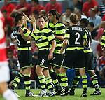 Georgios Samaras celebrates his goal for Celtic