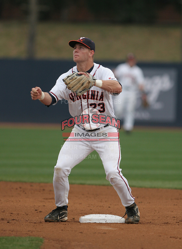 David Adams of the Virginia Cavaliers vs. the Miami Hurricanes:  March 24th, 2007 at Davenport Field in Charlottesville, VA.  Photo By Mike Janes/Four Seam Images