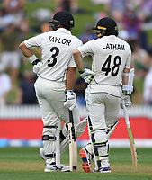 29th November 2019, Hamilton, New Zealand;  Ross Taylor and Tom Latham on day 1 of the 2nd international cricket test match between New Zealand and England at Seddon Park, Hamilton, New Zealand. Friday 29 November 2019