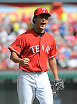 Yu Darvish (Rangers),<br /> SEPTEMBER 29, 2013 - MLB :<br /> Yu Darvish of the Texas Rangers celebrates during the Major League Baseball game against the Los Angeles Angels at Rangers Ballpark in Arlington in Arlington, Texas, United States. (Photo by AFLO)