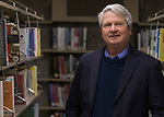 Author Dr. Shane Templeton at the Downtown Reno Library in Reno, Nev., Thursday, December 21, 2017. (AP Photo/Tom R. Smedes)