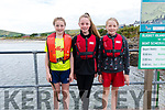 Hannah Granville, Sarah Ní Chonchúir and Ellie Nic Gearailt at the Ventry Regatta on Sunday afternoon.