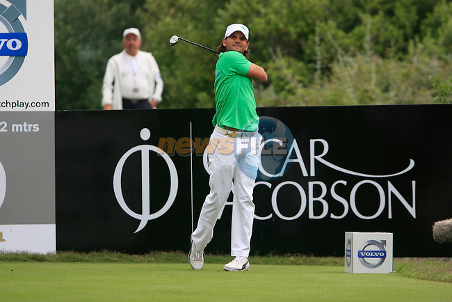 Johan Edfors (SWE) tees off at the 9th tee during Day 2 of the Volvo World Match Play Championship in Finca Cortesin, Casares, Spain, 20th May 2011. (Photo Eoin Clarke/Golffile 2011)