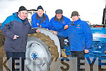 VINTAGE: The Knocklnaure Vintage club at the Abbeydorney Ploughing Competition on Sunday with their Vintage Tractor, L-r: Jerry Keane, Paddy Kennelly, Willie O'Connor and Bobby Stack.....