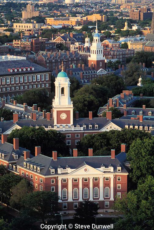 aerial view Eliot House, Harvard University, Cambridge, MA
