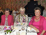 Mary Mullholland, Frances Duff and Maureen Reilly  pictured at the Daughters of charity dinner in An Grianan. Photo:Colin Bell/pressphotos.ie