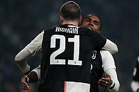 Gonzalo Higuain and Douglas Costa of Juventus celebrate after a goal <br /> Torino 15/01/2020 Juventus Stadium <br /> Football Italy Cup 2019/2020 <br /> Round of 16 <br /> Juventus FC - Udinese <br /> Photo Federico Tardito / Insidefoto