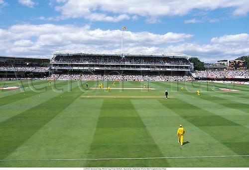 LORDS General View, World Cup Final 990620, Australia v Pakistan Photo:Neil Tingle/Action Plus...Venues.1999.Cricket.ground.grounds.venue