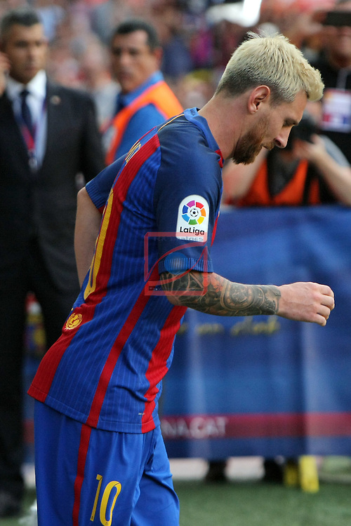League Santander 2016/2017.<br /> 51e Trofeu Joan Gamper.<br /> FC Barcelona vs UC Sampdoria: 3-2.<br /> Lionel Messi.