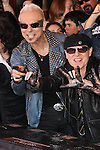 RUDOLF SCHENKER, KLAUS MEINE. The Scorpions are inducted into Hollywood's RockWalk, dedicated to honoring artists who have made a significant impact on Rock 'n' Roll, Blues and R&B. Hollywood, CA, USA. April 6, 2010. .
