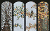 Custom 15 x 41 inch Four Seasons panels in 1.0cm polished marble tesserae by New Ravenna.<br /> For pricing, samples and design help, click here : http://www.newravenna.com/showrooms/