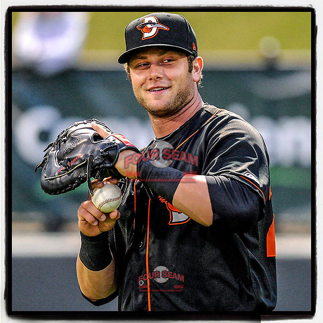 #OTD On This Day, April 27, 2013, 1B Christian Walker (23) of the Delmarva Shorebirds played in Greenville for the first time since leaving the University of South Carolina. Since then, Walker has played five seasons in the Majors and is now with Arizona. (Tom Priddy/Four Seam Images) #MiLB #OnThisDay #MissingBaseball #nobaseball #stayathome #minorleagues #minorleaguebaseball #Baseball #SallyLeague #AloneTogether #diamondbacks