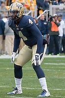 Pitt linebacker Bam Bradley. The Duke Blue Devils defeated the Pitt Panthers 51-48 at Heinz Field, Pittsburgh Pennsylvania on November 1, 2014.