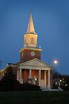 Rooke Chapel at dusk