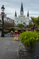 St Louis cathedral in Jackson Square in New Orleans, Louisiana