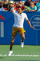 Washington, DC - August 4, 2019:  Nick Kyrgios (AUS) in action during the Citi Open ATP Singles final at William H.G. FitzGerald Tennis Center in Washington, DC  August 4, 2019.  (Photo by Elliott Brown/Media Images International)