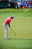 Talor Gooch (USA) watches his putt on 6 during Saturday's round 3 of the 117th U.S. Open, at Erin Hills, Erin, Wisconsin. 6/17/2017.<br /> Picture: Golffile | Ken Murray<br /> <br /> <br /> All photo usage must carry mandatory copyright credit (&copy; Golffile | Ken Murray)