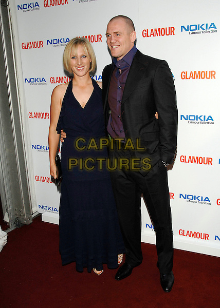 ZARA PHILLIPS & MIKE TINDALL .Inside Arrivals at Glamour magazine's 4th Annual Woman of the Year Awards, held at Berkley Square Gardens, London, England, 5th June 2007..full length royal couple navy blue halterneck dress.Ref: CAP/PL.©Phil Loftus/Capital Pictures
